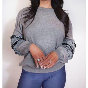 Sweaters - Tribal balloon sleeve sweater